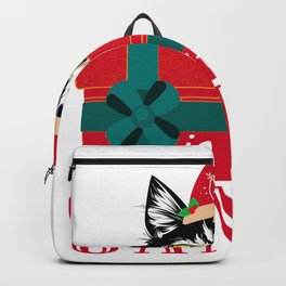 Christmas Cat Is It You Santa Backpack
