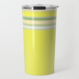 Bright Yellow Green Stripes Travel Mug