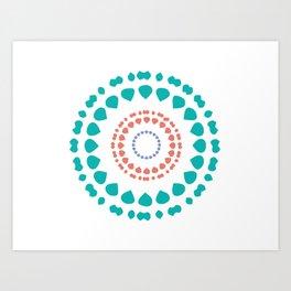 Global Tribe Green Art Print