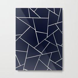 Navy Blue Geometric Glam #1 #geo #decor #art #society6 Metal Print