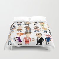 pulp fiction Duvet Covers featuring Pulp Fiction Iotacons by Andy Rash