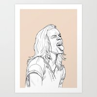 harry styles Art Prints featuring Harry Styles by Cécile Pellerin