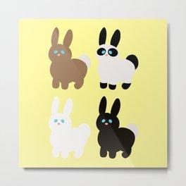 United colors of bunnies Metal Print
