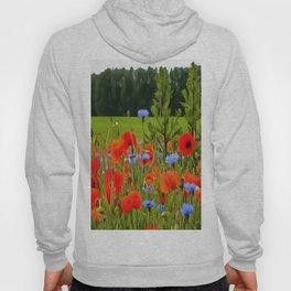 Poppies And Cornflowers Hoody