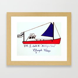 Navigate Design Sail Framed Art Print
