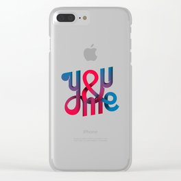 You & Me Lettering Clear iPhone Case