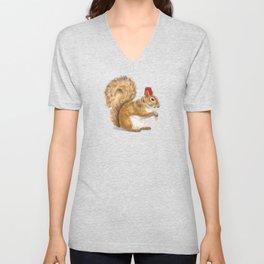 Fez Hat Squirrel Unisex V-Neck