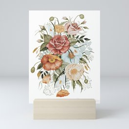 Roses and Poppies Mini Art Print