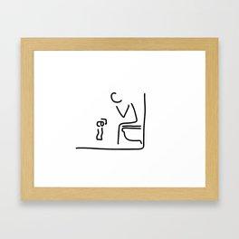 toilet digestion irritant bowel Framed Art Print
