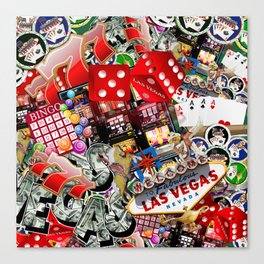 Gamblers Delight - Las Vegas Icons Canvas Print