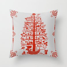 Christmas Tree Ship Throw Pillow