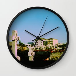 Suburban afterlife Wall Clock
