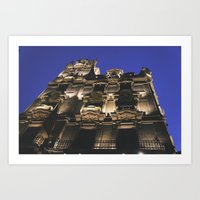 budapest hotel Art Prints featuring Hotel in Budapest by Victoria Wee