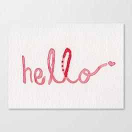 Hello Invisible Friend. Canvas Print