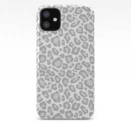 Grey Leopard Print iPhone Case