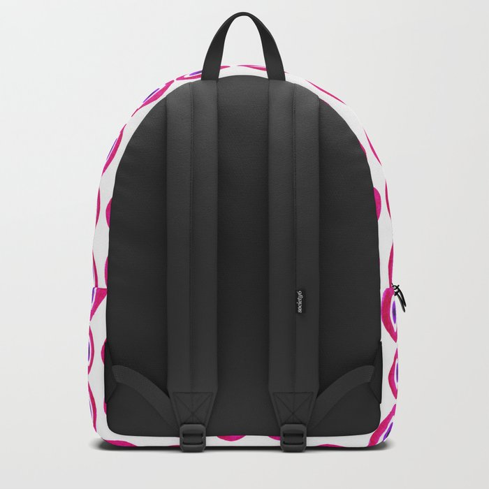 Evil Eye Amulet Talisman in Pink Backpack