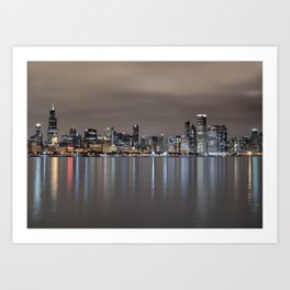 Chicago After Dark Art Print