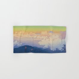 Above the Clouds (Un-Hyo) Vintage Beautiful Japanese Woodblock Print Hiroshi Yoshida Hand & Bath Towel