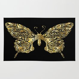 Gold butterfly Rug