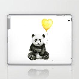 Panda with Yellow Balloon Baby Animal Watercolor Nursery Art Laptop & iPad Skin