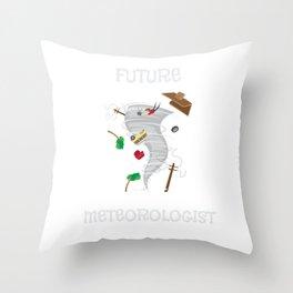 Funny Future Meteorologist Tornado & Hurricane Throw Pillow