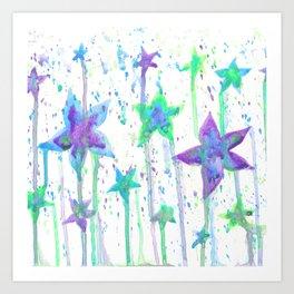 Starfish Flowers Art Print