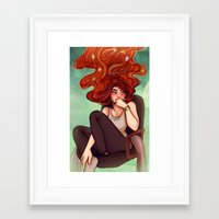 cyarin Framed Art Prints featuring Creativity by Cyarin