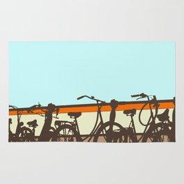 On your bike (Blue & Orange) Rug