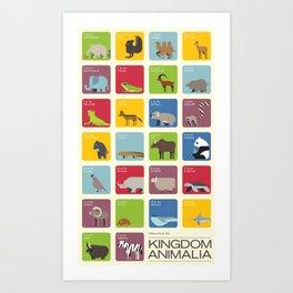 The Kingdom Animalia Art Print