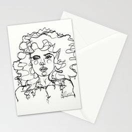 Curly Lines Girl Stationery Cards