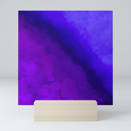 Deep Dark Abyss - Ultra Violet Ombre Abstract Mini Art Print
