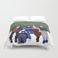 breakfast club Duvet Covers featuring The Breakfast Club by Christina