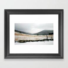 Mountain Winter Framed Art Print
