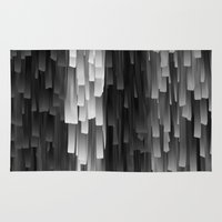 fringe Area & Throw Rugs featuring Fringe (Black and White) by Jacqueline Maldonado