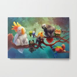 Griffins of a Feather Metal Print