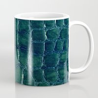 crocodile Mugs featuring crocodile by clemm
