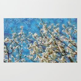 Blossom and Blue Sky In Monet Style Rug