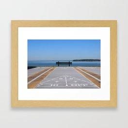 Symmetry of The Chesapeake Bay Framed Art Print