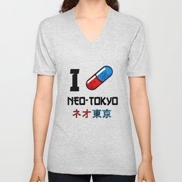 I Love Neo-Tokyo Unisex V-Neck