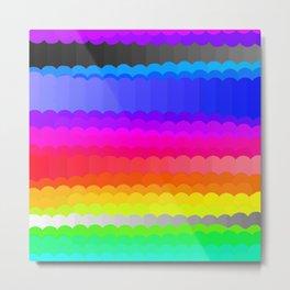 Rainbow and white S28 Metal Print