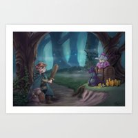 adventure is out there Art Prints featuring Adventure by aokstudios