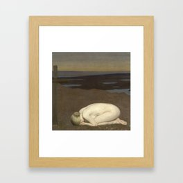 Youth Mourning by Sir George Clausen, 1916 Framed Art Print