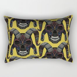 demon skull ochre Rectangular Pillow