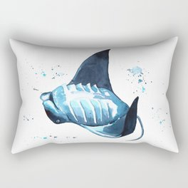Manta Ray Rectangular Pillow