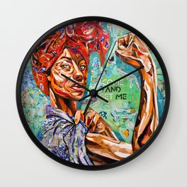 Rosie the riveter / unapologetic Wall Clock
