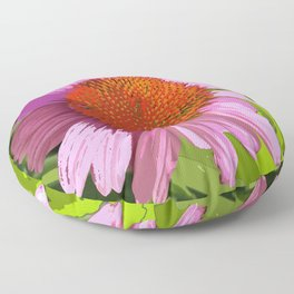 Echinacea, coneflower, purple pink flower Floor Pillow