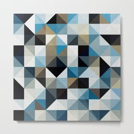 Colored squares and triangles I Metal Print