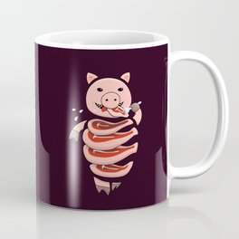 Gluttonous Cannibal Pig Coffee Mug