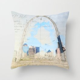 Gateway Arch, Saint Louis USA Throw Pillow