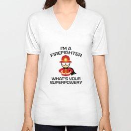 I'm A Firefighter Unisex V-Neck